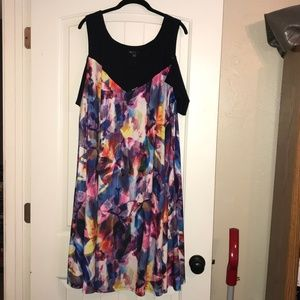 MYNT 1792 Cold-Shoulder Watercolor Dress, 4x
